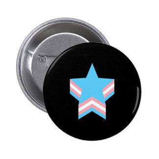 Estrelas do orgulho do Transgender Bóton Redondo 5.08cm