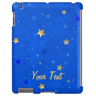 Estrelas do ouro do céu azul capa para iPad