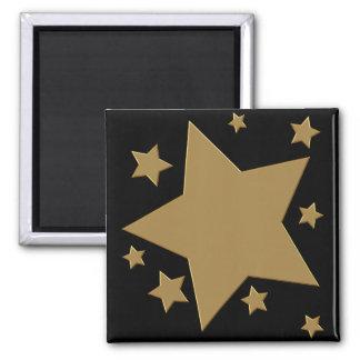Estrelas do ouro ímã quadrado