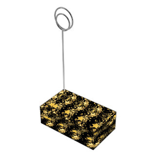 Estrelas do Suporte-Ouro do cartão da mesa Suporte Para Cartões De Mesas