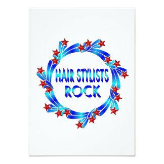 Estrelas do vermelho da rocha dos cabeleireiros convite personalizados