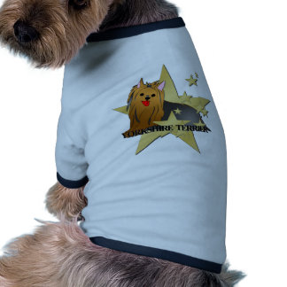 Estrelas dos desenhos animados do cão do yorkshire camisetas para cães