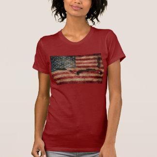 Estrelas dos EUA do Grunge do vintage & bandeira e Camiseta