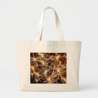 Estrelas dos fogos-de-artifício bolsa tote grande