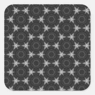 Estrelas e padrões adesivo quadrado