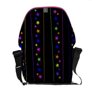 estrelas e tiras bolsas mensageiro