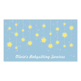 Estrelas elegantes do Twinkling que Babysitting Cartão De Visita