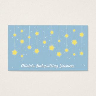 Estrelas elegantes do Twinkling que Babysitting Cartão De Visitas