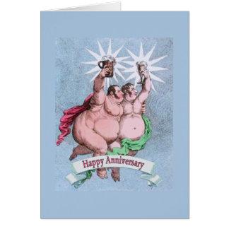 Estrelas felizes alegres do gêmeo do aniversário cartão comemorativo