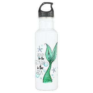Estrelas & garrafa de água da sereia (24 onças)