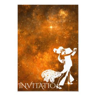 Estrelas Glam personalizadas do tango dança Convite 8.89 X 12.7cm