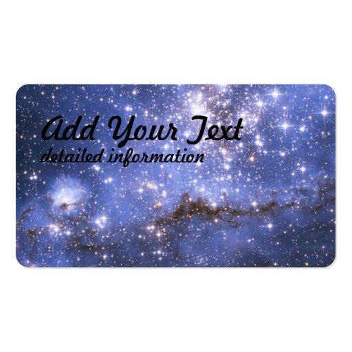 Estrelas infantis em galáxia vizinha cartões de visitas