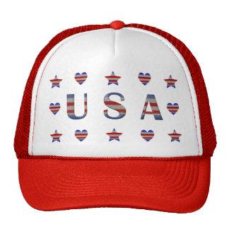 Estrelas, listras & corações dos EUA patrióticos Boné