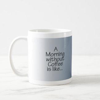 Estrelas na manhã azul sem café caneca de café