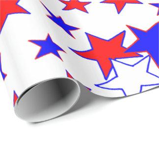 Estrelas patrióticas papel de presente