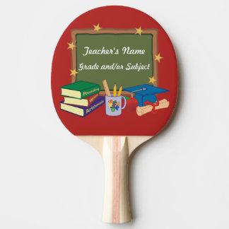 Estrelas personalizadas do quadro do professor raquete de ping pong