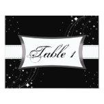 Estrelas pretas & brancas do cartão de casamento convite personalizados