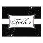 Estrelas pretas & brancas do cartão de casamento d convite personalizados