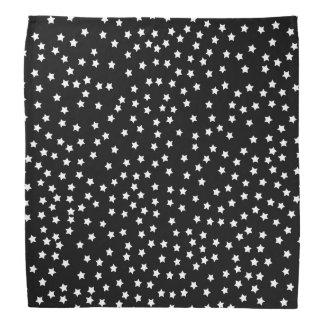 Estrelas preto e branco bandana