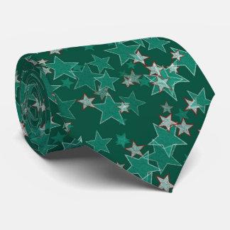 Estrelas verdes gravata