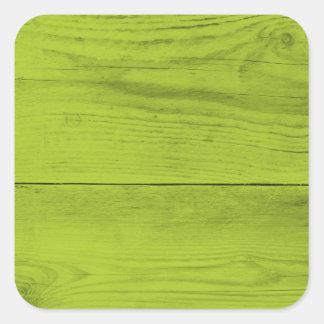 Estrutura de madeira verde-clara como um textur do adesivo quadrado