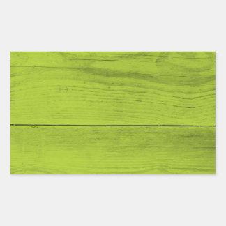 Estrutura de madeira verde-clara como um textur do adesivo retangular