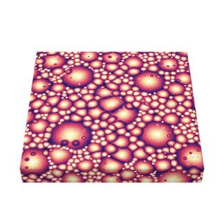 Estrutura molecular estrangeira impressão em tela