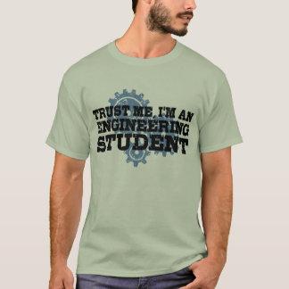 Estudante da engenharia camiseta