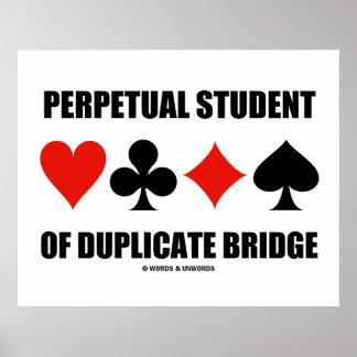 Estudante perpétuo da ponte duplicada (ternos do poster