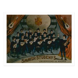 Estudantes espanhóis universidade de Madrid co Cartoes Postais