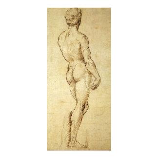 Estudo da estátua do David de Michelangelo por 10.16 X 22.86cm Panfleto