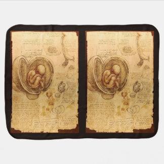 Estudo do feto do bebê por Leonardo da Vinci Manta De Bebe