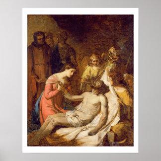 Estudo do lamento no cristo inoperante (óleo o poster