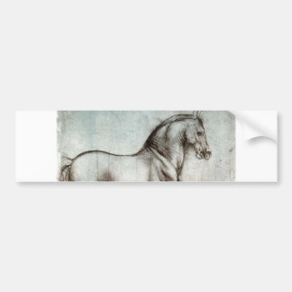 Estudo dos cavalos - Leonardo da Vinci Adesivo