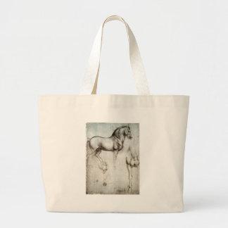 Estudo dos cavalos - Leonardo da Vinci Bolsas De Lona
