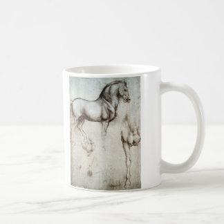 Estudo dos cavalos - Leonardo da Vinci Caneca De Café