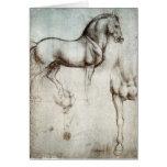 Estudo dos cavalos - Leonardo da Vinci Cartao