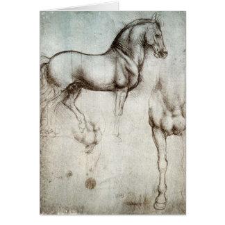Estudo dos cavalos - Leonardo da Vinci Cartão