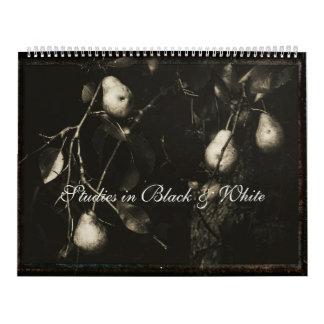 Estudos do ~ do calendário em preto & no branco