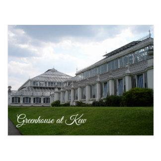 Estufa no cartão de Kew