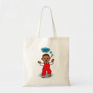 Etapas da criança do afro-americano dos desenhos sacola tote budget