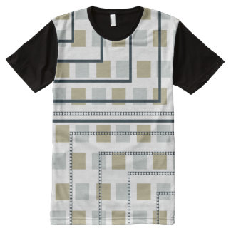 Etapas de Blass Camiseta Com Impressão Frontal Completa