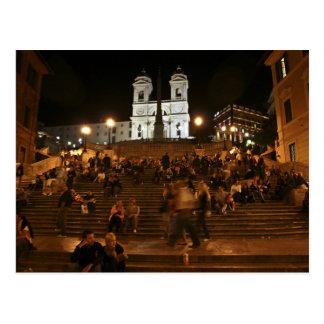 Etapas espanholas em a noite cartao postal