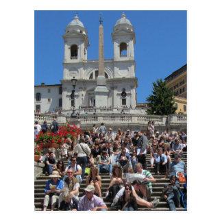 Etapas espanholas, Roma, Italia Cartoes Postais