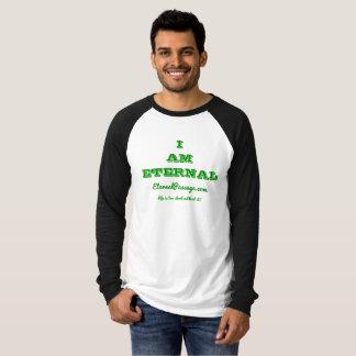 EternalPassage.com EU SOU camisa ETERNO do Raglan