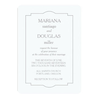 Eterno formal convite 12.7 x 17.78cm