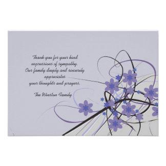Eterno - obrigado do falecimento você Notecard Convite Personalizado