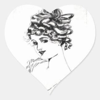 Etiqueta 1917 do coração de Russell L. Swigert