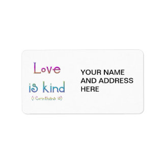 Etiqueta 1 Corinthians 13 - o amor é amável