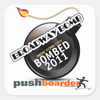 Etiqueta 2011 da bomba de Broadway Adesivo